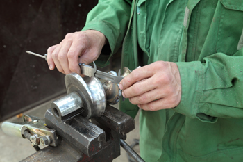 Man doing metalwork